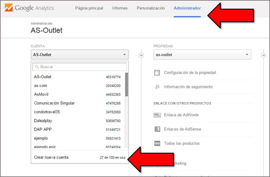 Cómo crear una cuenta de Google Analytics -2