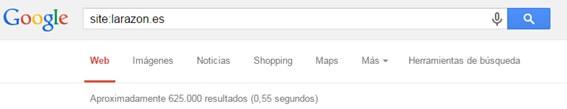 Así se arroja un site en Google - 3