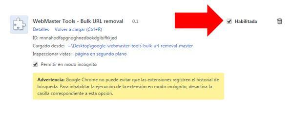 Habilitar Plugin del navegador