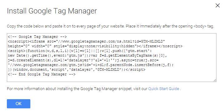 Google Tag Manager TAG