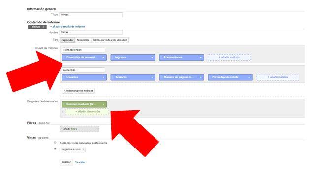 Informes personalizados en Google Analytics